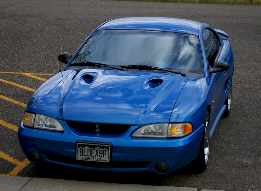 Bright Atlantic Blue 1998 Ford Mustang SVT Cobra Coupe ...