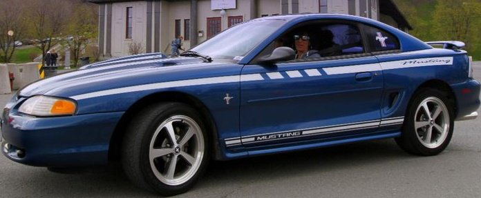 Atlantic Blue 1998 Mustang