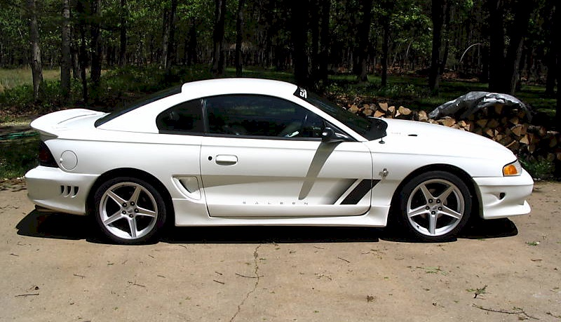 Crystal White 1998 Mustang Saleen S-281 Coupe