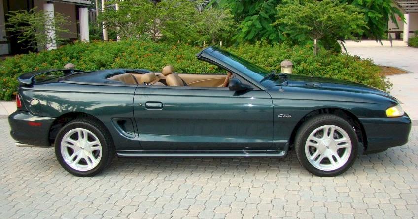 Dark Satin Green 98 Mustang Gt Convertible