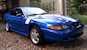 Bright Atlantic Blue 1998 Mustang GT coupe