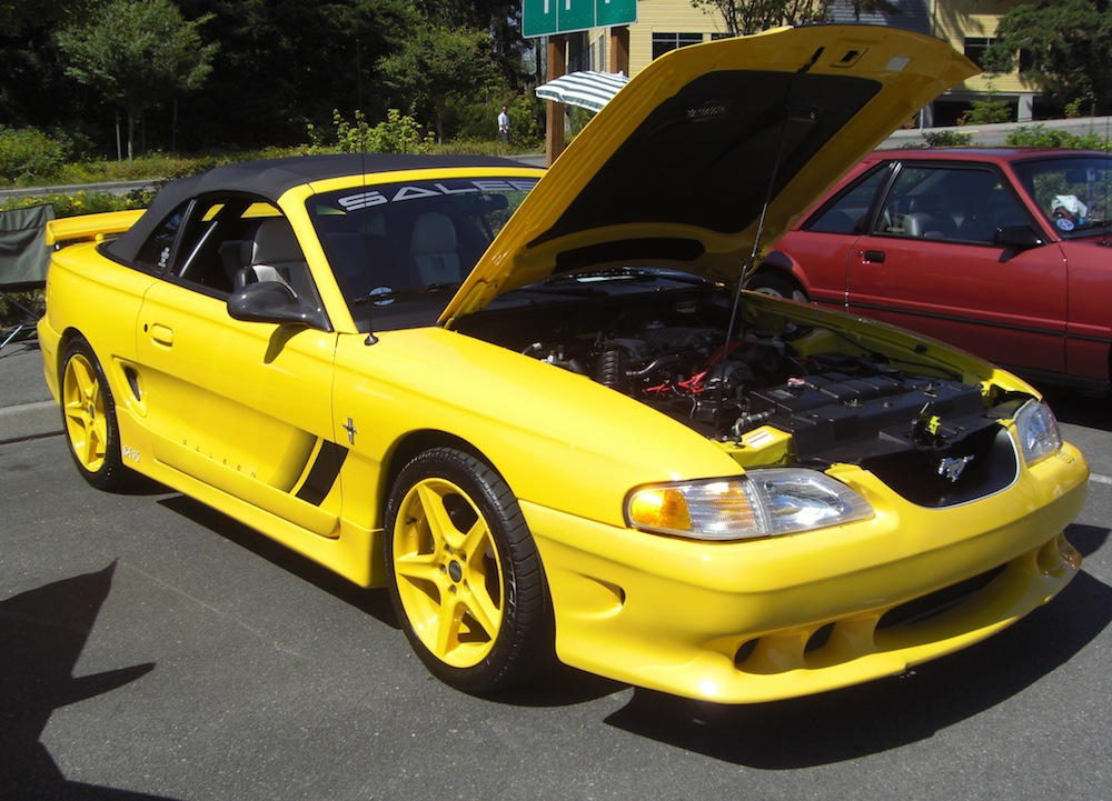 Chrome Yellow 1998 Mustang Saleen SA-15 Convertible