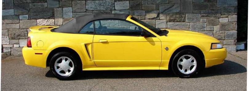 Chrome Yellow 1999 Ford Mustang Convertible