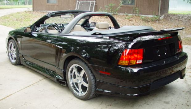1999 Black Mustang Roush left rear