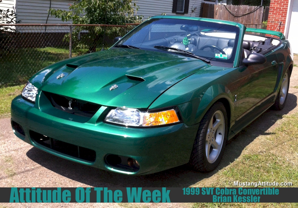 Electric Green 1999 Cobra Convertible