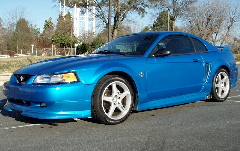 Bright Atlantic Blue 1999 Mustang Roush