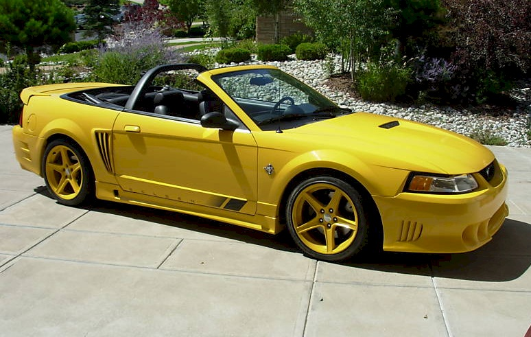 chrome yellow 1999 saleen s281 ford mustang convertible cool photo. Black Bedroom Furniture Sets. Home Design Ideas