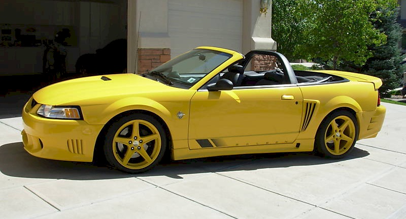chrome yellow 1999 saleen s281 ford mustang convertible photo detail. Black Bedroom Furniture Sets. Home Design Ideas