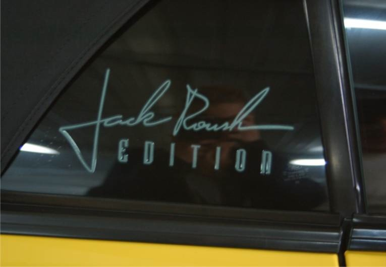 Jack Roush Edition window decal