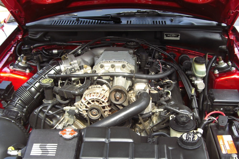 Saleen Supercharged V8 engine.