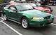 Electric Green 1999 Mustang Cobra Convertible