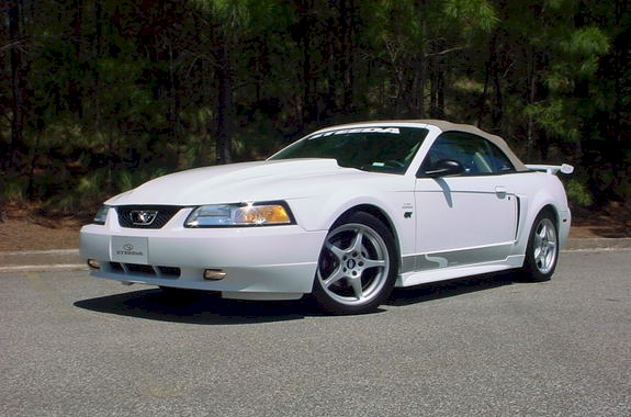 Crystal White 2000 Mustang GT Steeda Convertible