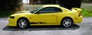 Zinc Yellow 2000 Steeda modified Mustang GT Feature Car