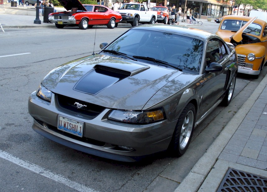 mineral gray 2001 ford mustang gt coupe photo detail. Black Bedroom Furniture Sets. Home Design Ideas