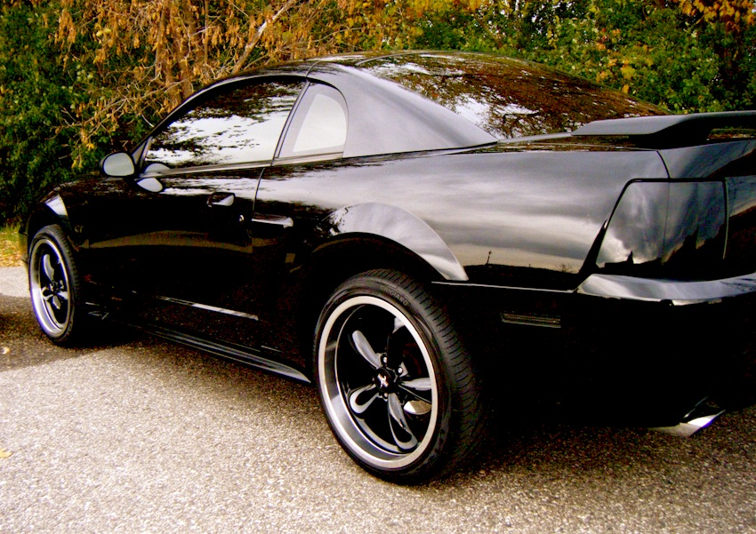 black 2001 ford mustang gt coupe photo detail. Black Bedroom Furniture Sets. Home Design Ideas