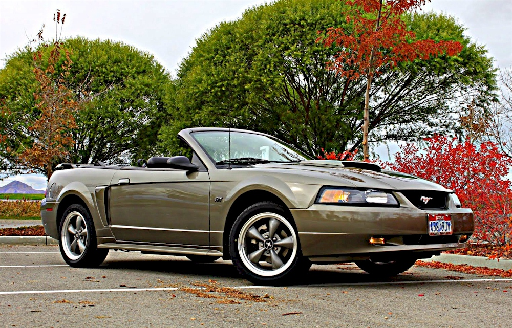 mineral gray 2001 ford mustang gt convertible photo detail. Black Bedroom Furniture Sets. Home Design Ideas