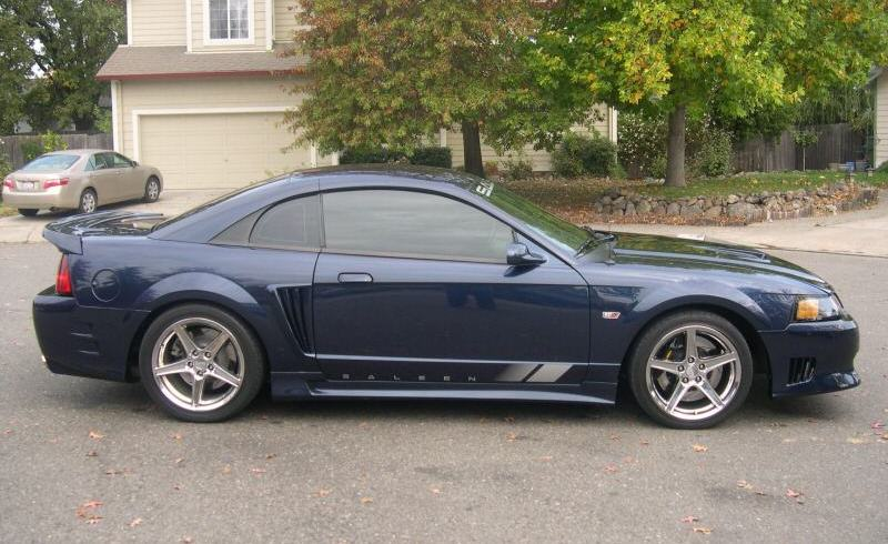 true blue 2001 saleen s281 ford mustang coupe photo detail. Black Bedroom Furniture Sets. Home Design Ideas