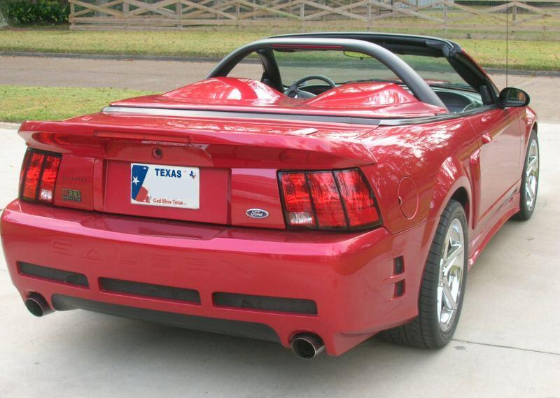 laser red 2001 saleen s281 ford mustang convertible photo detail. Black Bedroom Furniture Sets. Home Design Ideas