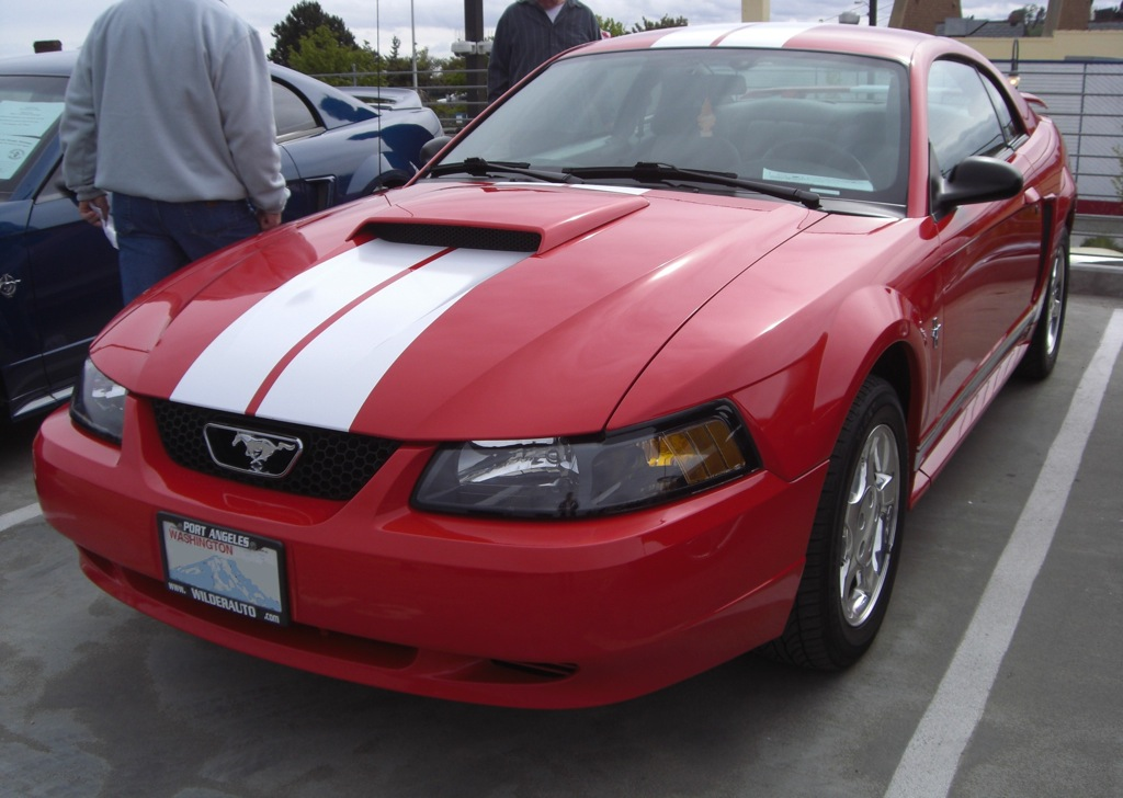 laser red 2001 ford mustang coupe. Black Bedroom Furniture Sets. Home Design Ideas