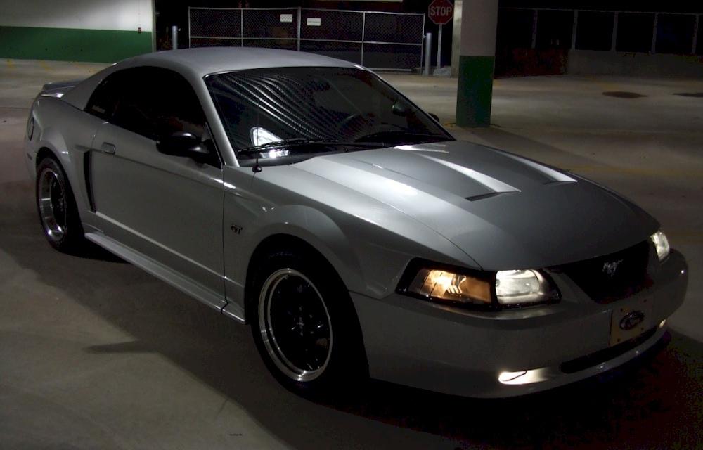 Satin Silver 2002 Mustang Gt
