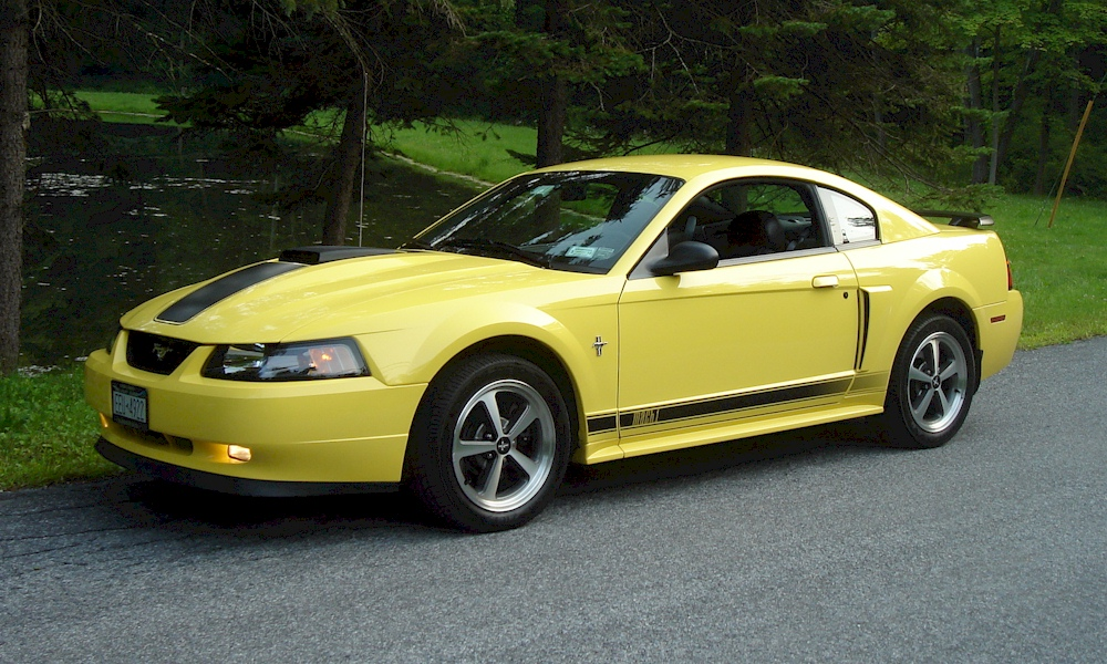 zinc yellow 2003 mach 1 ford mustang coupe. Black Bedroom Furniture Sets. Home Design Ideas
