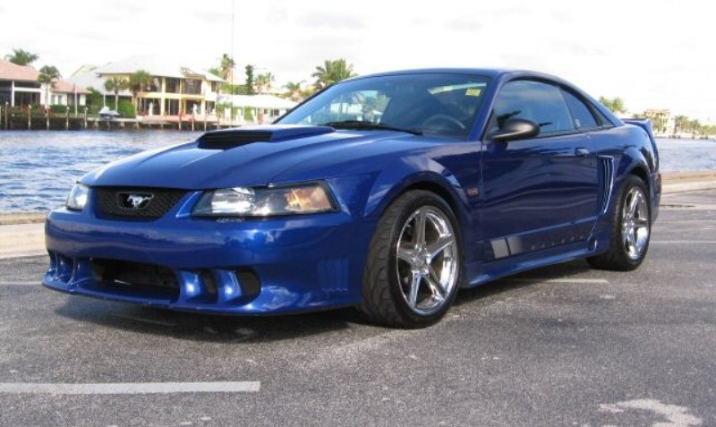 sonic blue 2003 saleen s281 ford mustang coupe