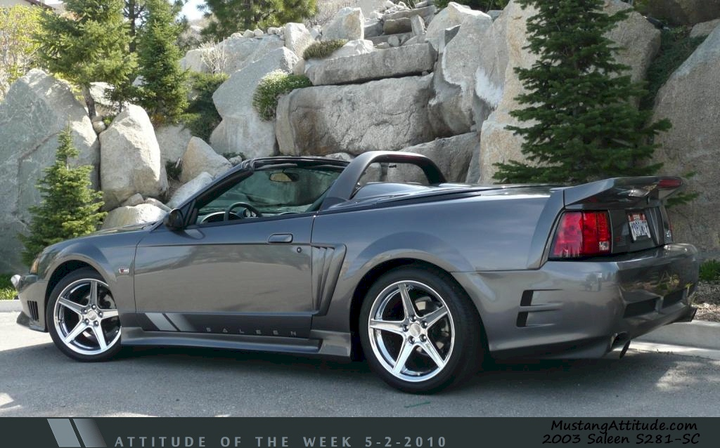 Dark Shadow Gray 2003 Mustang Saleen S281-SC