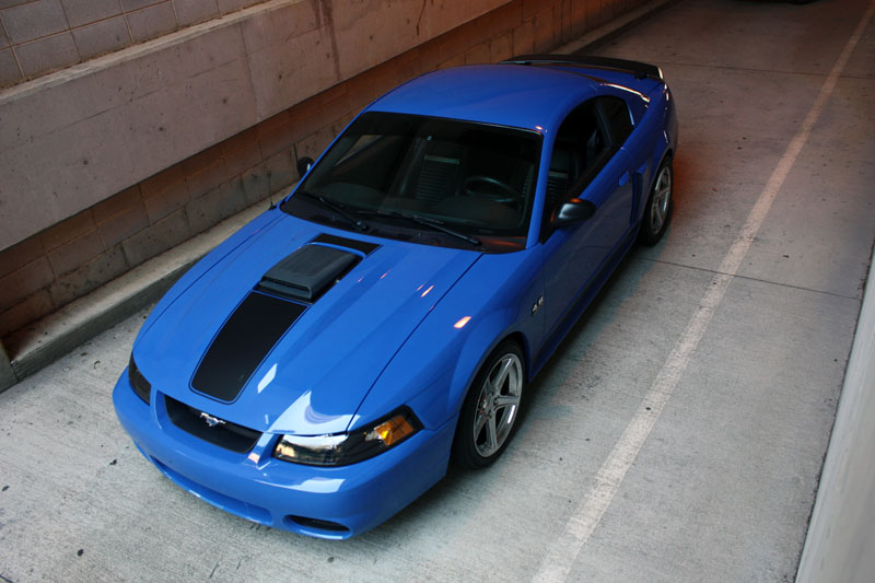 Azure Blue 2003 Mach 1 Ford Mustang Coupe Mustangattitude Com Photo Detail
