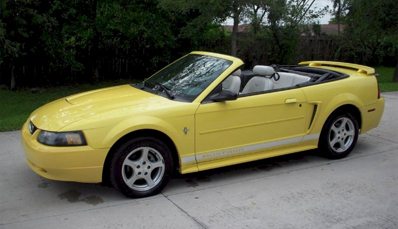 Zinc Yellow 2003 Mustang Convertible