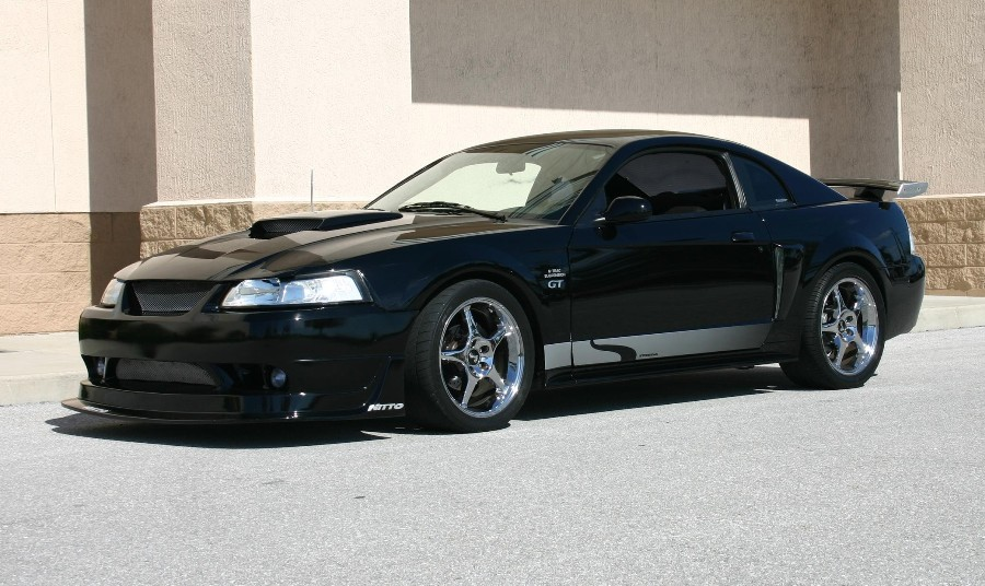 Black 2003 Ford Mustang GT Steeda Coupe - MustangAttitude.com Photo ...
