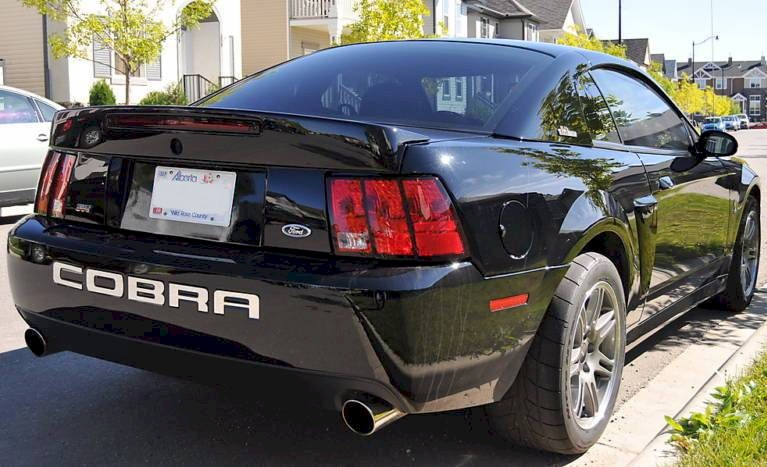 Black 2003 10th Anniversary SVT Cobra Coupe