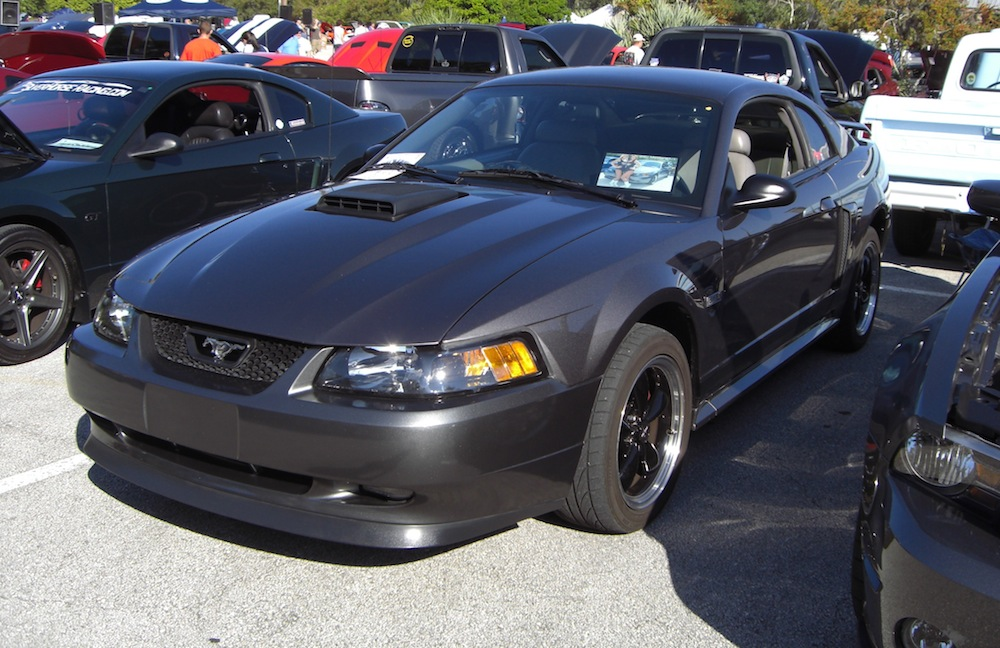 Dark Shadow Gray Customized Mustang GT Coupe