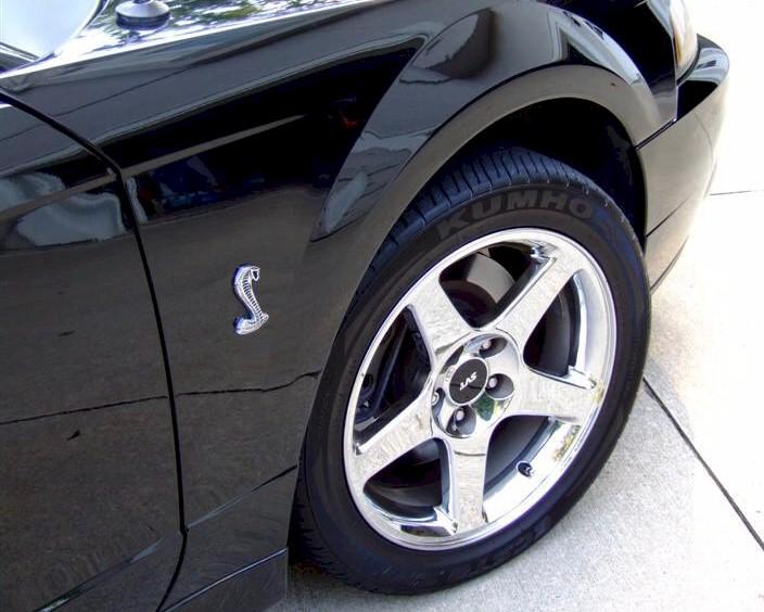 Black 2004 Ford Mustang SVT Cobra Convertible ...