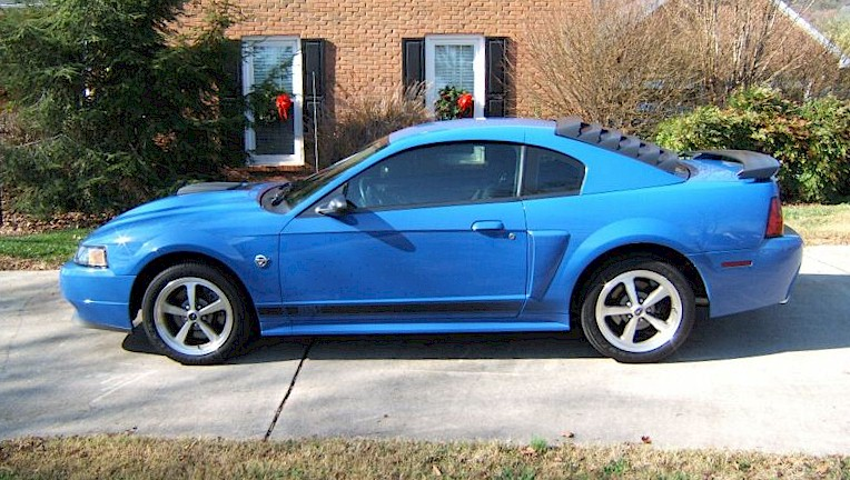 azure blue 2004 mach 1 40th anniversary edition ford mustang coupe photo. Black Bedroom Furniture Sets. Home Design Ideas