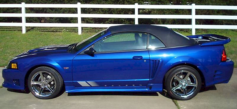 Sonic Blue 2004 Saleen S281-SC Ford Mustang Convertible ...