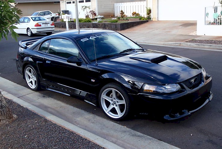 Black 2004 Saleen S281 Ford Mustang Coupe
