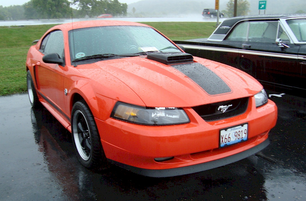 competition orange 2004 mustang mach 1 coupe pictured at the rainy. Black Bedroom Furniture Sets. Home Design Ideas