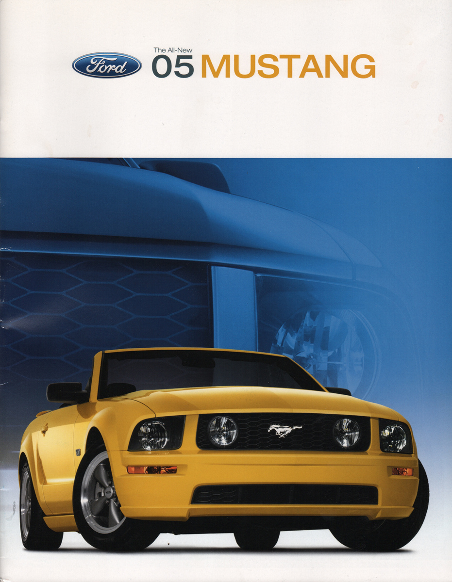 Late copy of the 2005 Ford Mustang sales catalog
