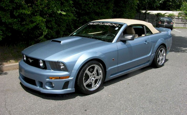 windveil blue 2006 roush stage 2 ford mustang convertible. Black Bedroom Furniture Sets. Home Design Ideas