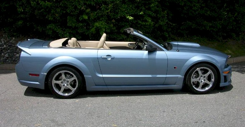 Blue 2006 Roush Mustang