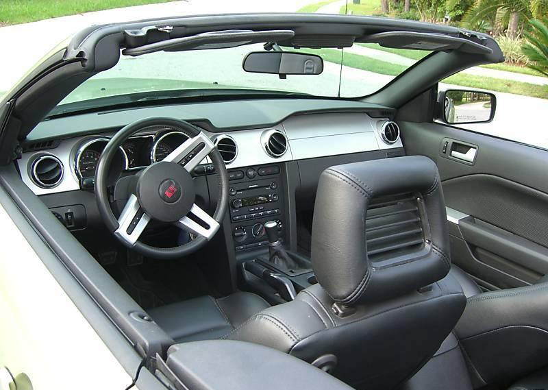 Black Interior 2006 En S 281 Mustang Convertible