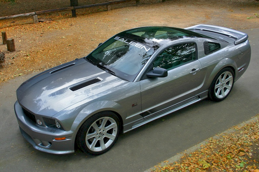 satin silver 2006 saleen s281 ford mustang coupe photo detail. Black Bedroom Furniture Sets. Home Design Ideas