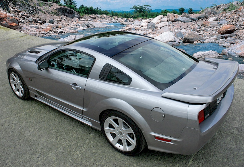 2006 Saleen Ford Mustang S281 Scenic Roof. Satin Silver 2006 Saleen Glass Roof S-281