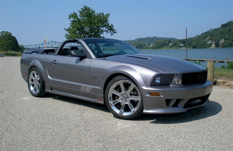satin silver 2006 saleen s281 sc ford mustang convertible photo detail. Black Bedroom Furniture Sets. Home Design Ideas