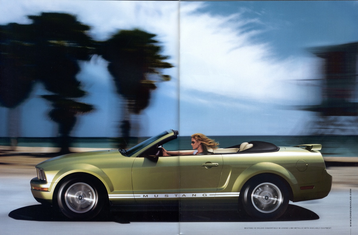 Page 6 & 7: 2006 Ford Mustang Promotional Brochure