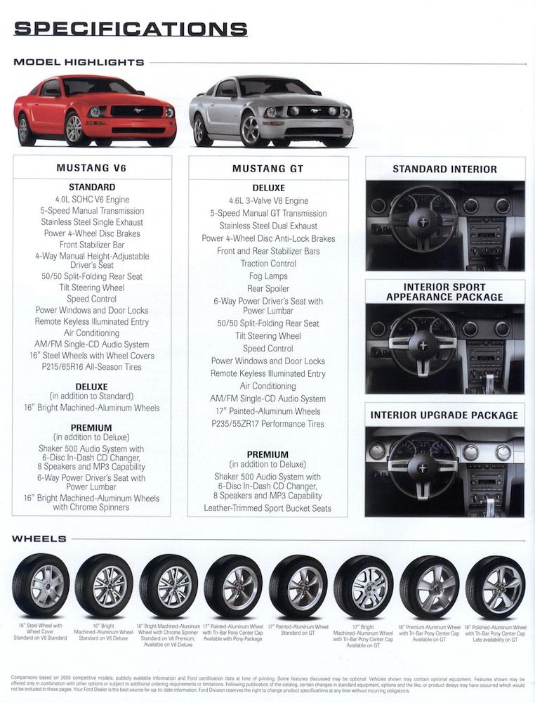 NOS Ford  Mustang  2006 dealer brochure