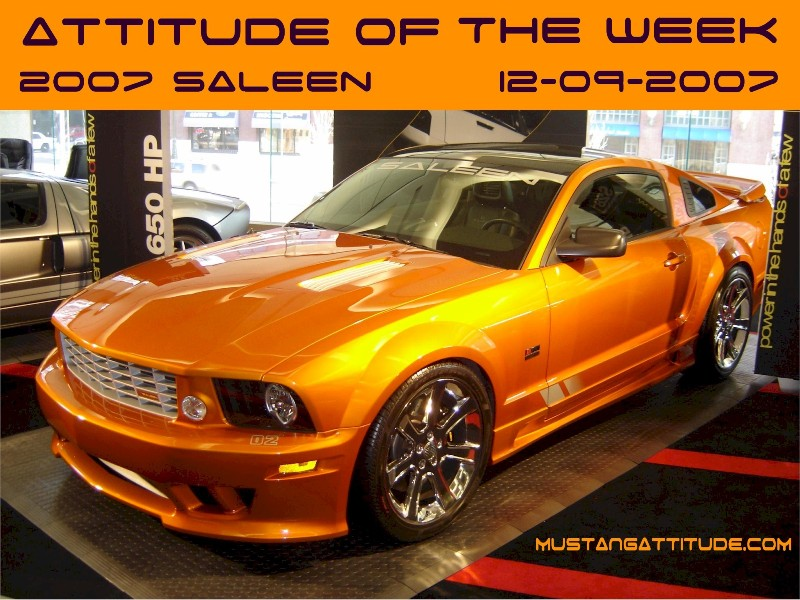 Beryllium Orange 2007 Saleen S281 E Ford Mustang Coupe