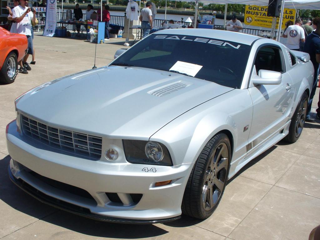 Satin silver 2007 saleen ford mustang coupe mustangattitude com