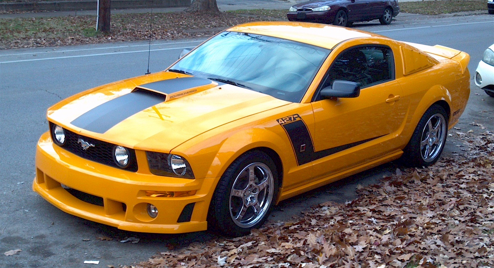 grabber orange 2007 roush 427r ford mustang coupe. Black Bedroom Furniture Sets. Home Design Ideas