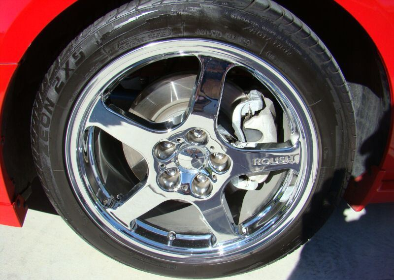Ford Explorer Black Rims >> Torch Red 2007 Roush 427R Ford Mustang Coupe ...